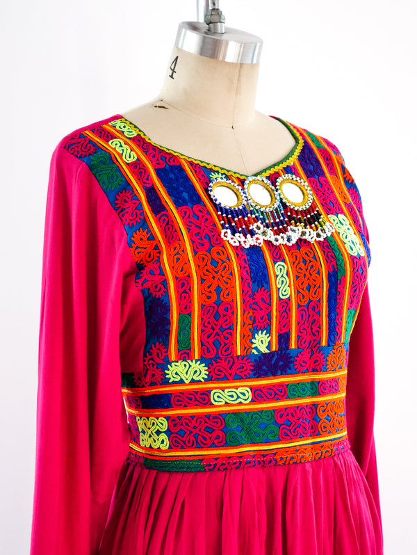 Afghani Embroidered Dress