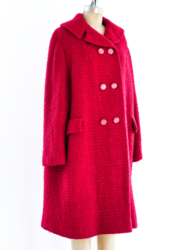 1960's Fuchsia Tweed Coat
