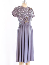 1940's Soutache Sequin Dress