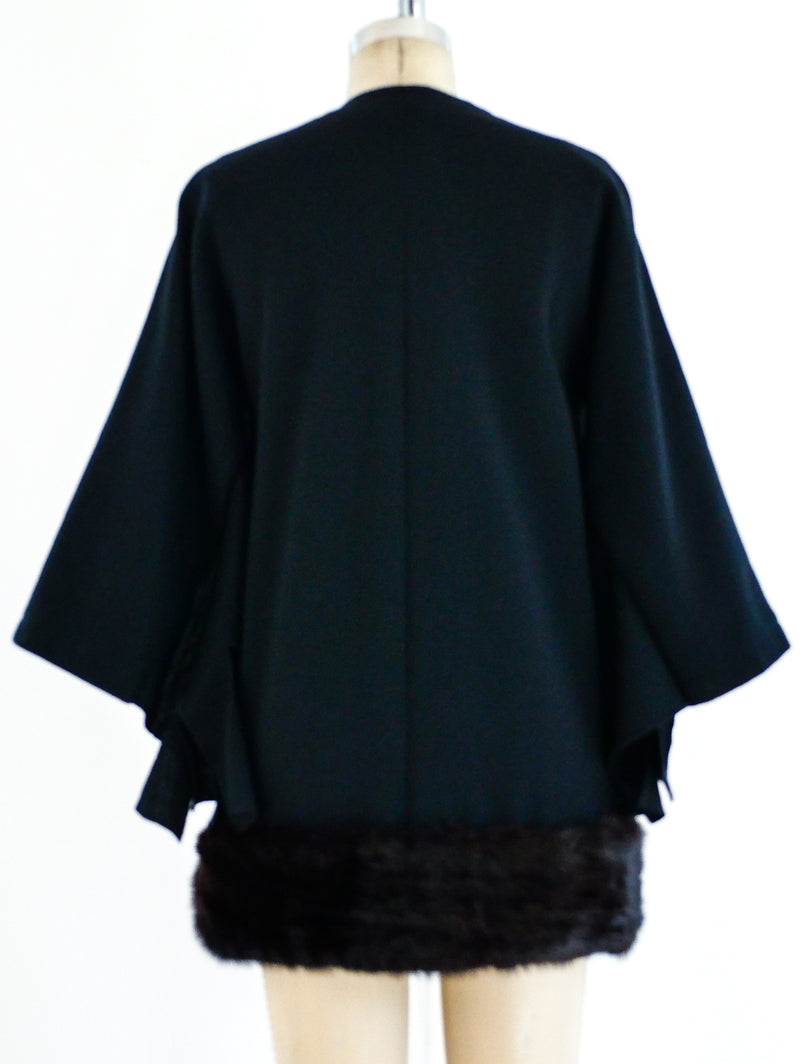 Pierre Cardin Carwash Fringed Jacket with Mink Trim