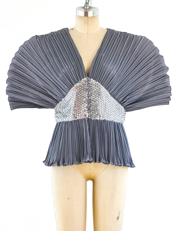Sculptural Pleated Top