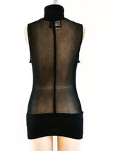 Jean Paul Gaultier Sleeveless Mesh Turtleneck
