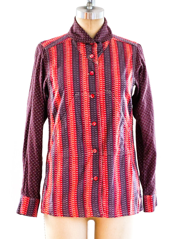 Kenzo Striped Button Front Shirt