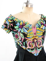 Gianni Versace Embellished Bustier Mini Dress