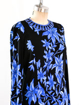 Blue Lily Printed Silk Jersey Dress