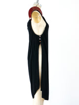 Jean Paul Gaultier Sculptural Shoulder Jersey Tunic