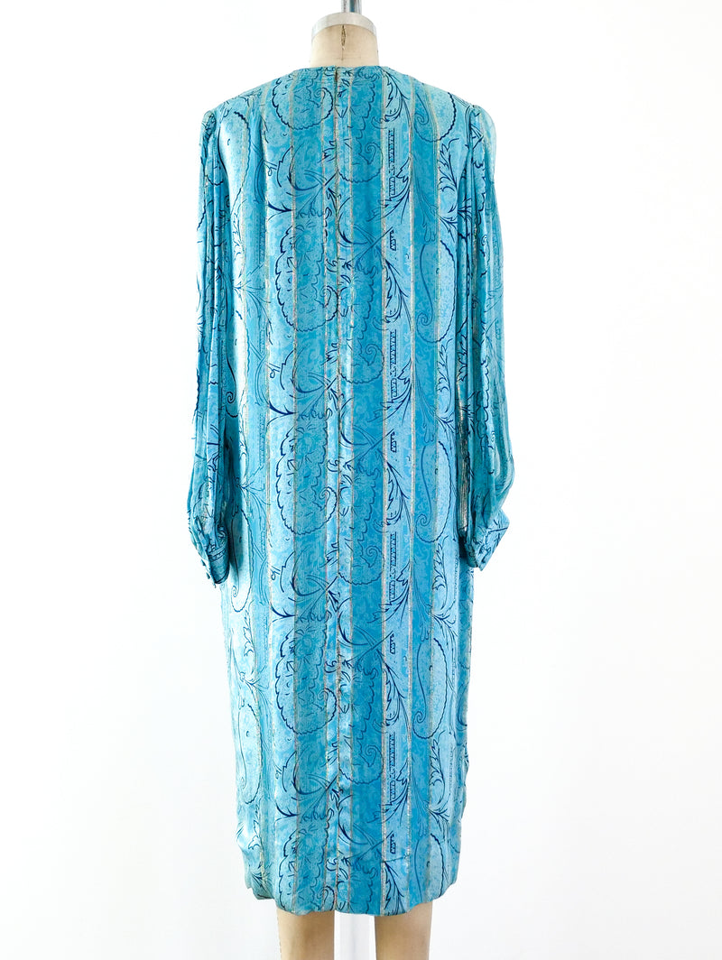 Adele Simpson Paisley Silk Dress