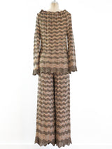Missoni Metallic Knit Pant Ensemble