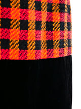 Chanel Tweed and Velvet Skirt
