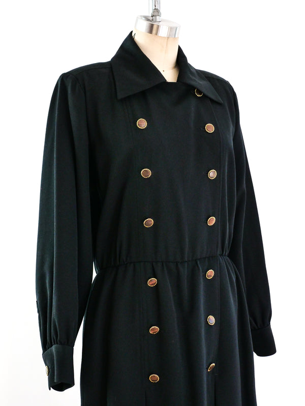 Yves Saint Laurent Double Breasted Coat Dress