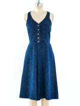 1970's Denim Gaucho Jumpsuit
