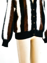 Angora Striped Cardigan