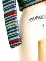Yves Saint Laurent Multicolor Lurex Striped Jacket