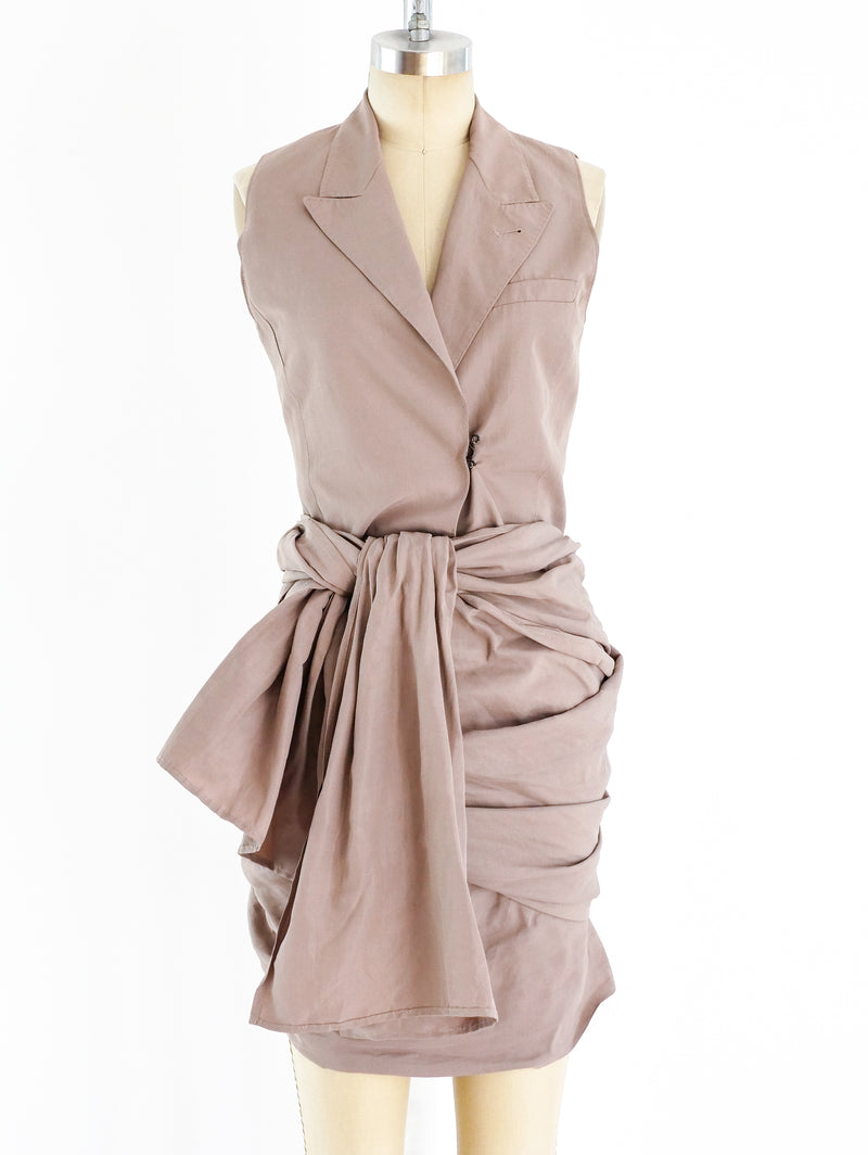 Jean Paul Gaultier Tailored Wrap Dress