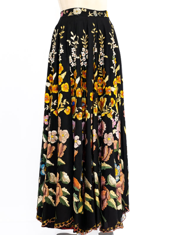 1930's Hand Embroidered Maxi Skirt