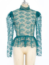 Emerald Net Lace Top