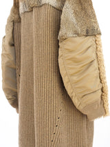 Undercover Fur Trimmed Cardigan Style Coat