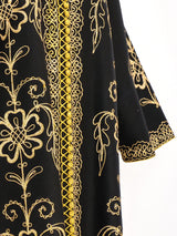 Button Front Embroidered Caftan