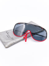 Christian Dior Red Framed Shield Sunglasses