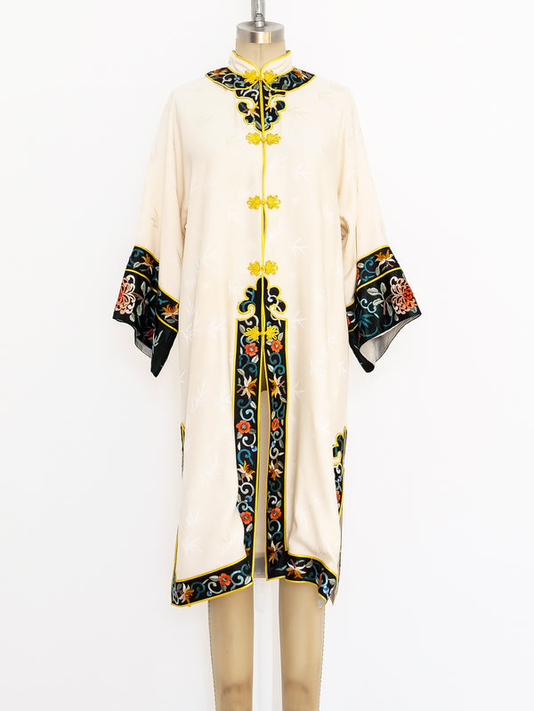 Embroidered Silk Chinese Robe