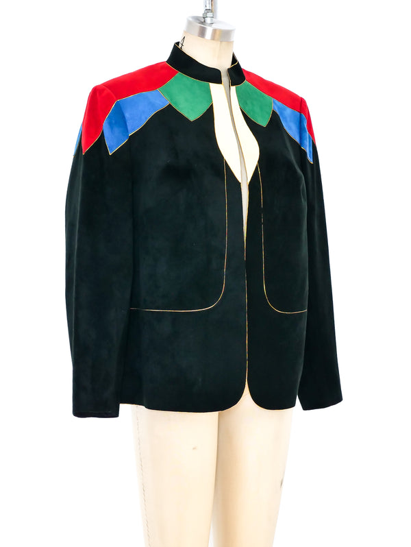 Multicolor Ultrasuede Jacket