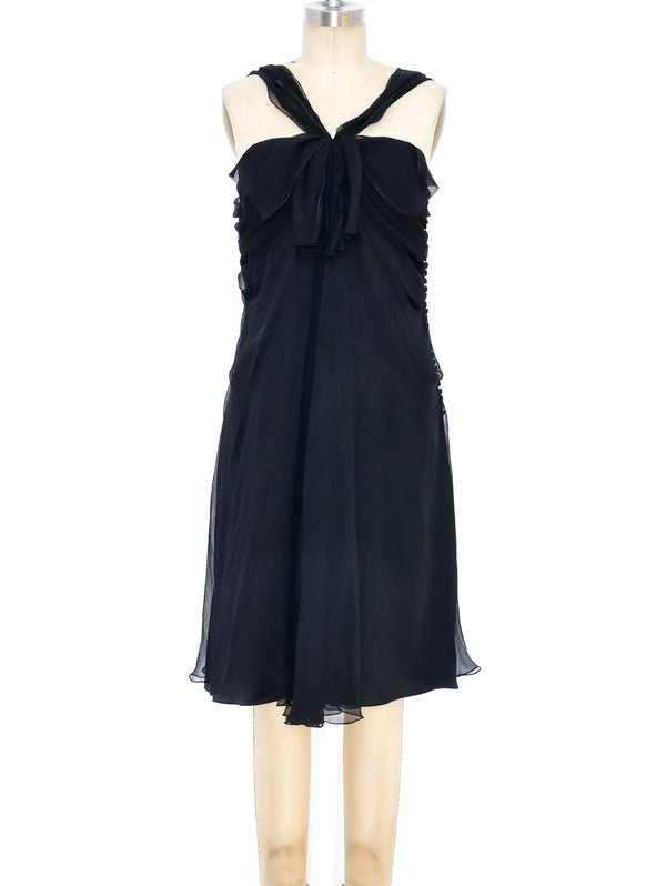 Christian Dior Black Silk Chiffon Dress