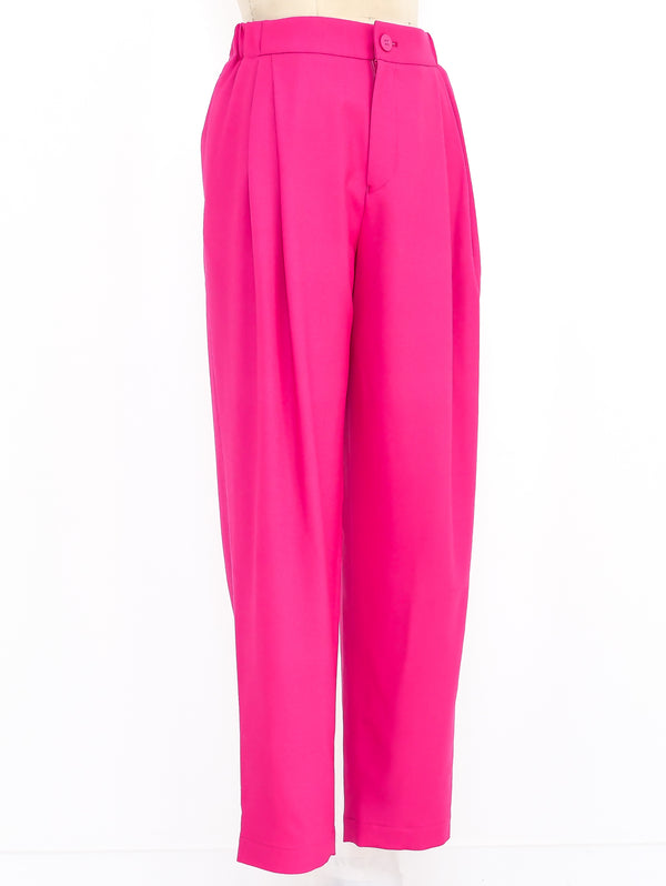 Issey Miyake Hot Pink Wool Trousers