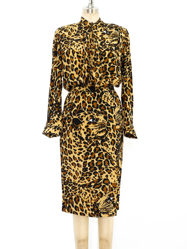 Yves Saint Laurent Leopard Printed Ensemble