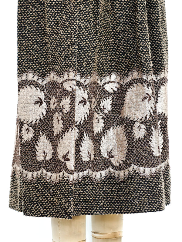 Geoffrey Beene Tweed and Lace Skirt Ensemble