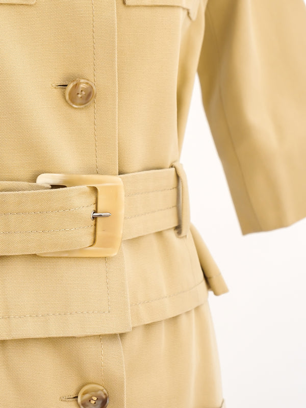 Guy Laroche Safari Inspired Khaki Ensemble