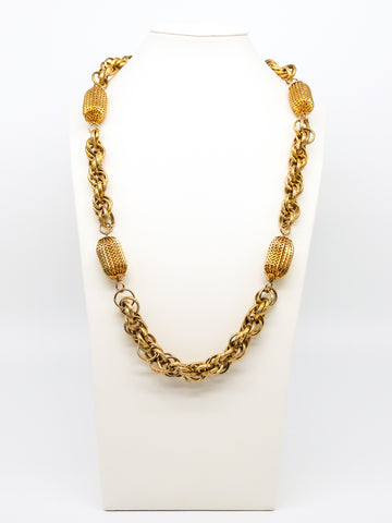 Perforated Bead Chain Necklace