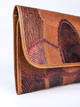 Carlos Falchi Patchwork Envelope Clutch
