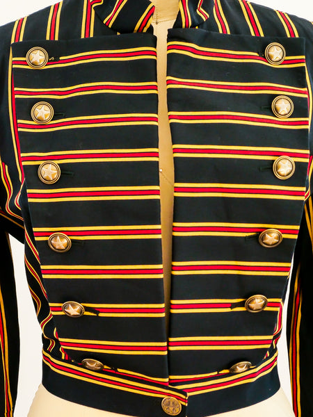 Military Inspired Ozbek Striped Jacket