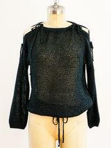 Courrèges Black Lurex Sweater