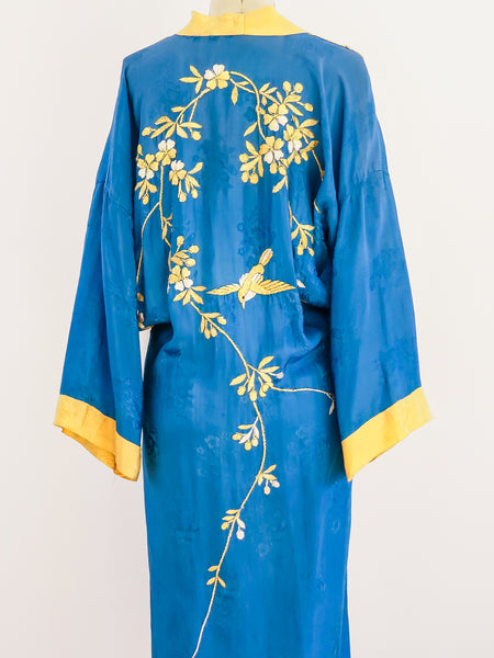 Hand Embroidered Floral Robe