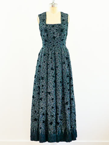 1960s Italian Demi-Couture Sequin Gown