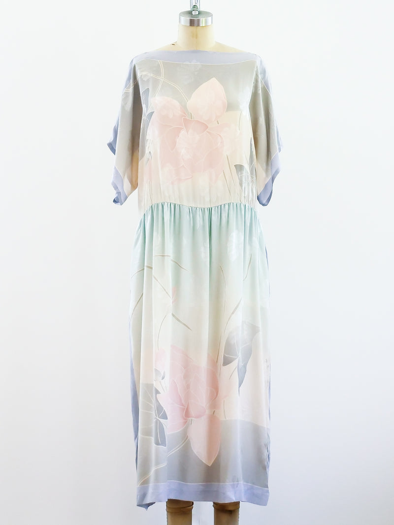 Ombre Silk Floral Dress