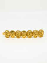 Goldtone Mask Bracelet