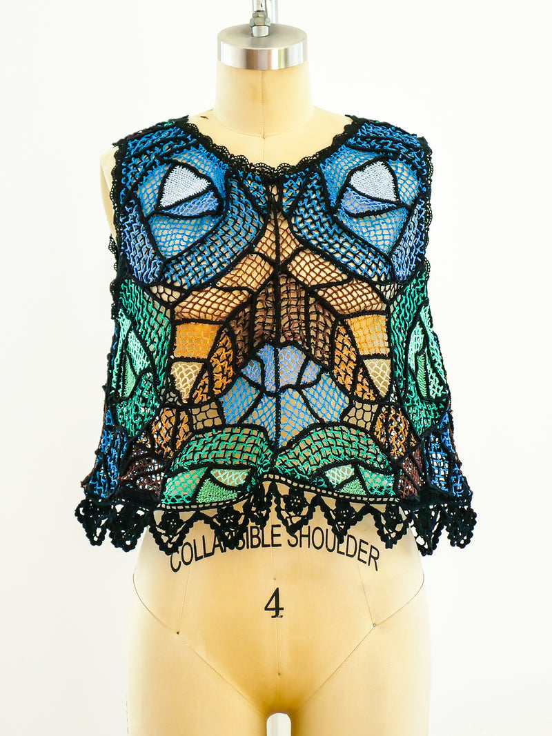 Pieced Crochet Tank Top