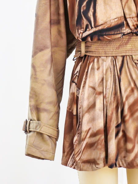 Jean Paul Gaultier Printed Jersey Trench Coat