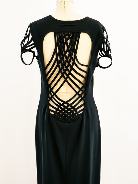 Jean Paul Gaultier Cage Back Gown