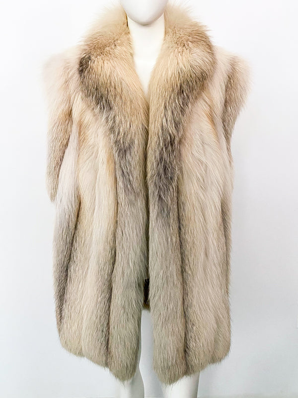 Fox Fur Sleeveless Jacket