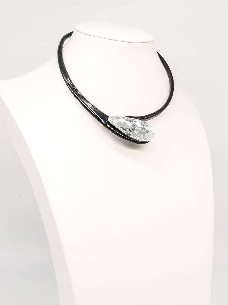 Lucite Crystal Collar Necklace