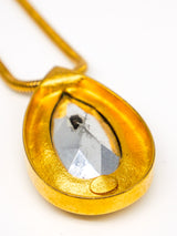Lanvin Teardrop Crystal Pendant Necklace