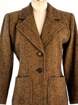 Yves Saint Laurent Herringbone Wool Jacket