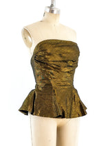Metallic Gold Bustier