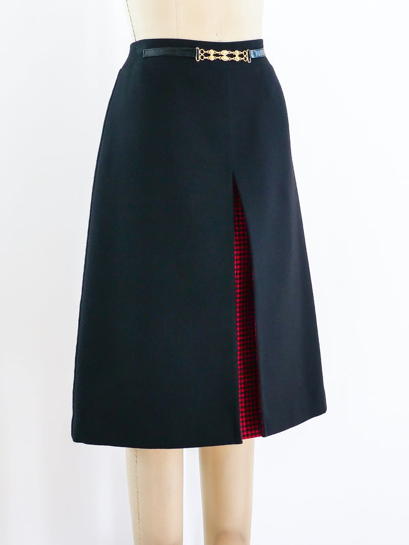 Celine Wool Knee Length Skirt