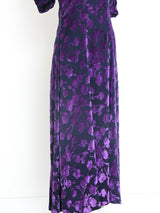 Yves Saint Laurent Amethyst Floral Dress