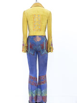 Christian Lacroix Painted Suede Pant Ensemble
