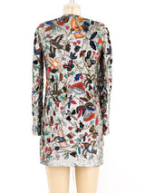 Embellished Bird and Floral Motif Jacket